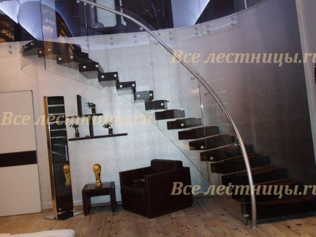 Стеклянное лестничное ограждение SO-23 1