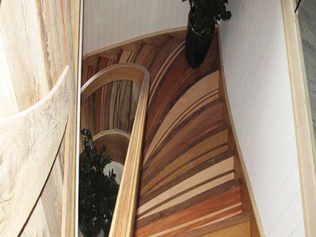Деревянная лестница D-81 1