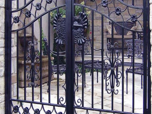 Кованые ворота Z-09 1