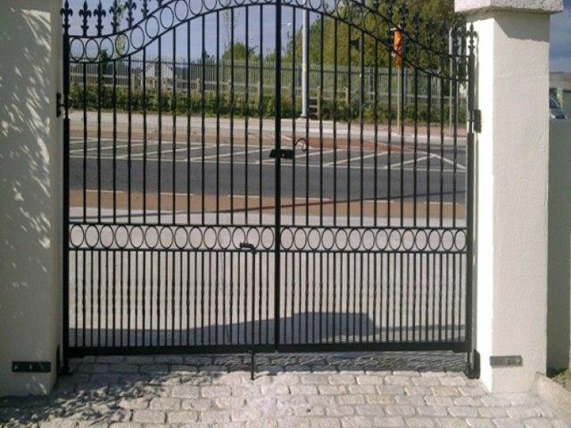 Кованые ворота Z-10 1