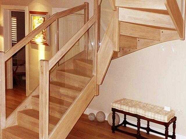 Деревянная лестница D-85 1