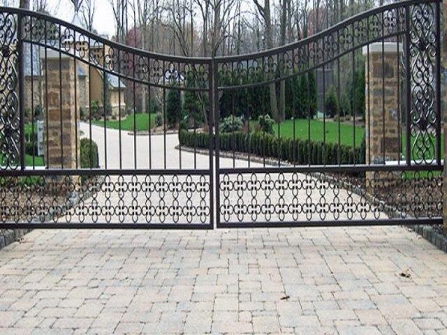 Кованые ворота Z-18 1