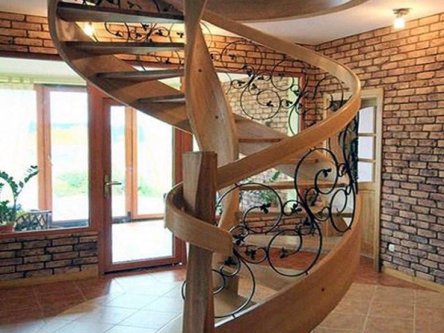 Лестница деревянная EL_28 1