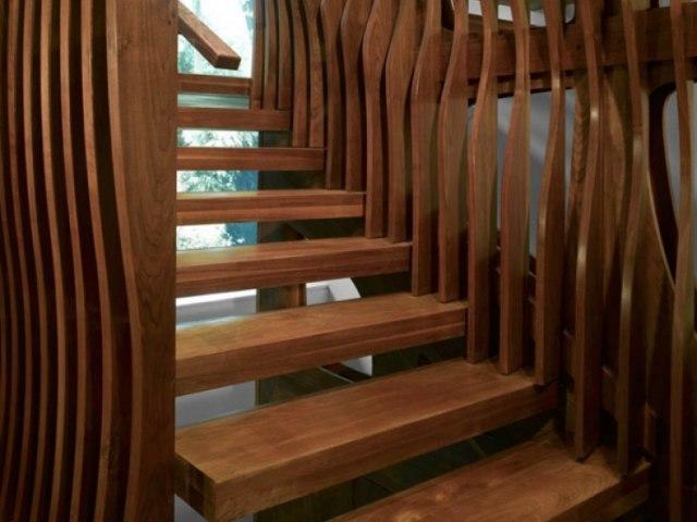 Деревянная лестница D-86 1