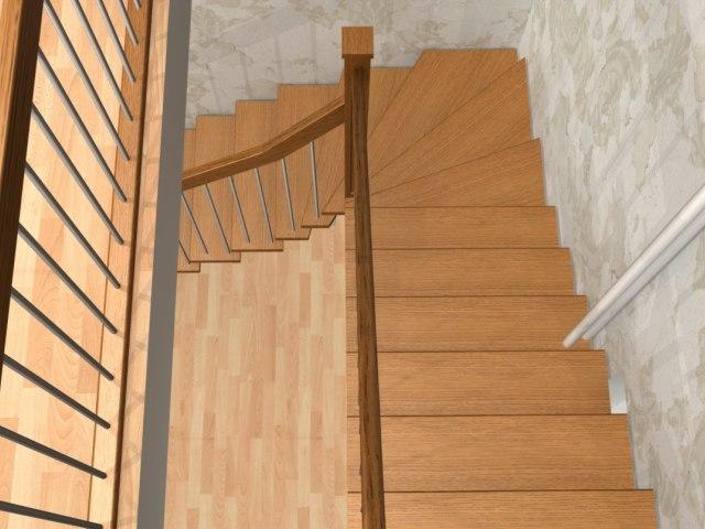 Лестница на металлическом каркасе ДМ-1 2