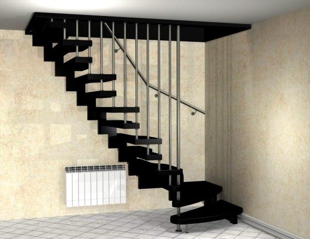 Лестница на металлическом каркасе ДМ-2 1