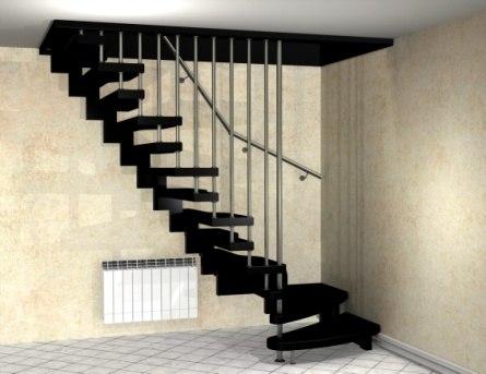Лестница на металлическом каркасе ДМ-2 2