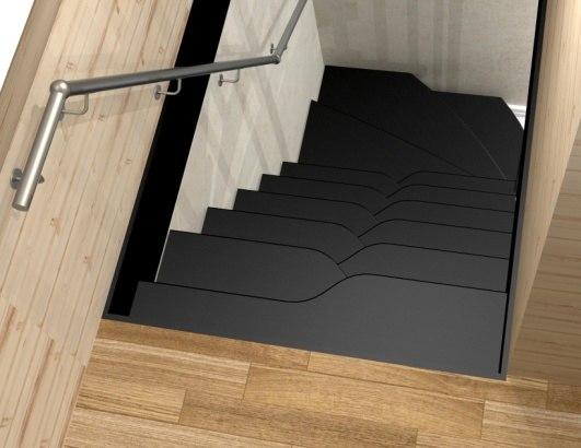 Лестница на металлическом каркасе ДМ-2 3