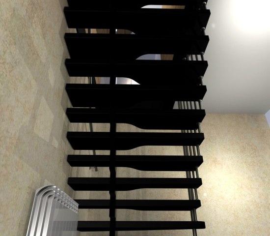 Лестница на металлическом каркасе ДМ-2 4