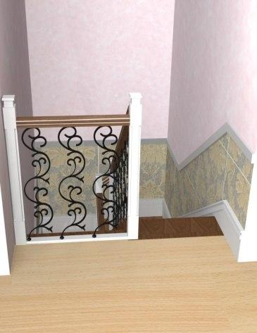 Лестница на металлическом каркасе ДМ-3 2