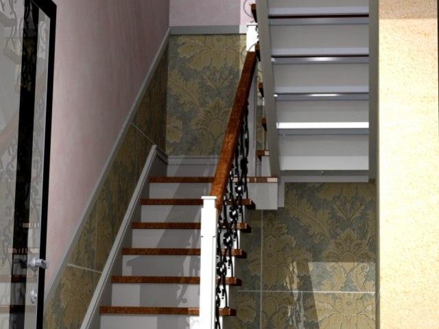 Лестница на металлическом каркасе ДМ-3 5