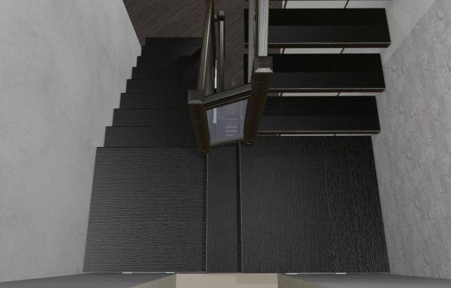 Лестница на металлическом каркасе ДМС-2 3