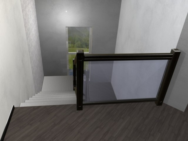 Лестница на металлическом каркасе ДМС-2 4
